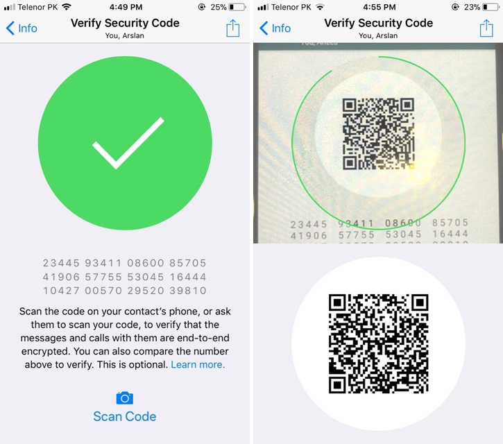 How to Verify WhatsApp Security Code For Any Contact